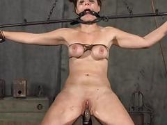 Brutal striking of princesses slave