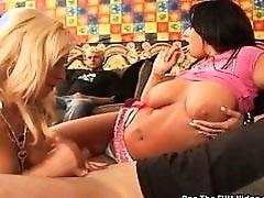 Angelina Ashe Gives Lucky Aficionado a Hand Job