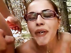 Young amateurs chemical play and smokin' outdoor