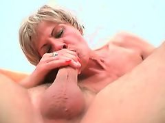 Some sexually aroused dude destroying old mature slut