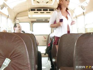 passionate schoolgirl seduces the school bus driver