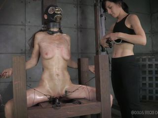 girl in gas blindfold gets tortured
