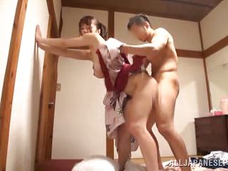 husband gives his wife a creampie