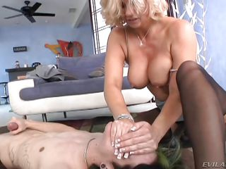 hungry milf gets dirty in bedroom @ milf strap #02