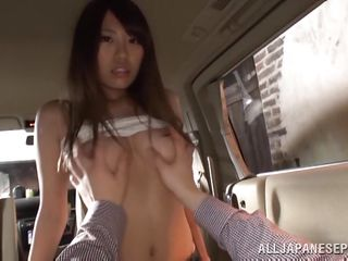 chisa gets penetrated in a car