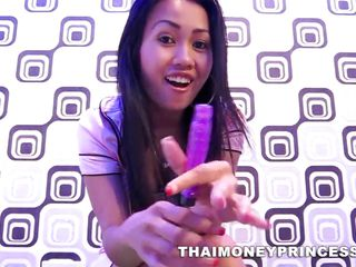 thai teen teasing with her toy