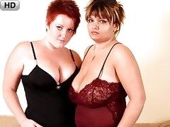 Dykey BBW Guides Her Voluptuous Girlfriend To Amazing Orgasm