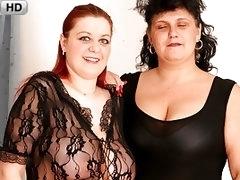 BBW Lesbians in Nylons Getting Freaky
