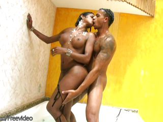 tranny hottie gets big dong in her asshole in the showerblack