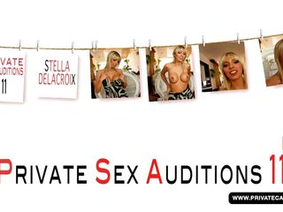 big boobed french golden-haired stella delcroix visits private�s casting couch