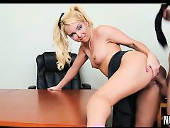 Small Tits Blonde Fuckes On Desk Aaliyah Love