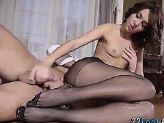 Foot kink babe licked