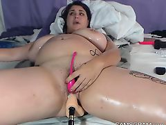 Lustful Bbw Toying Her Sweet Hole