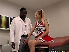 Cheerleader Youthful Sydney Cole Humps A Ebon Cock In Hospital