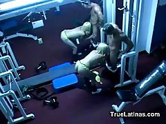 Sexy Latina Fucked in the Gym