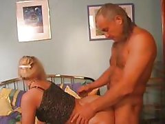 Pervy old man enjoys nailing his firm and perky little slut