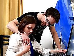 Teen School Girl Sucks and Fucks the Teacher's Cock