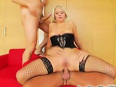 Dual of our guys destroy her ass and pussy. Afterwards a raw DP session Kathy gets two loads of hot sperm keen to her mouth for her to suck