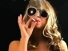 Sunglasses smoking